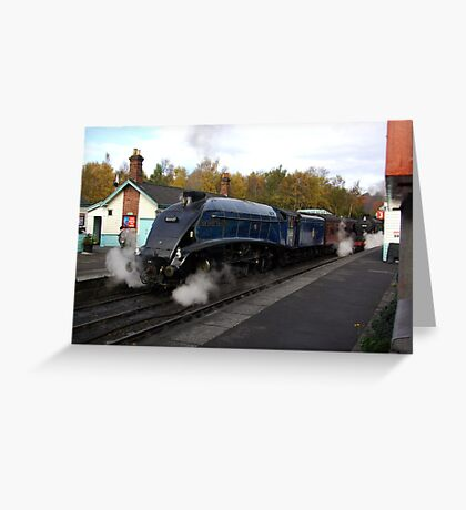 Steam at Grosmont  - North Yorks. Greeting Card