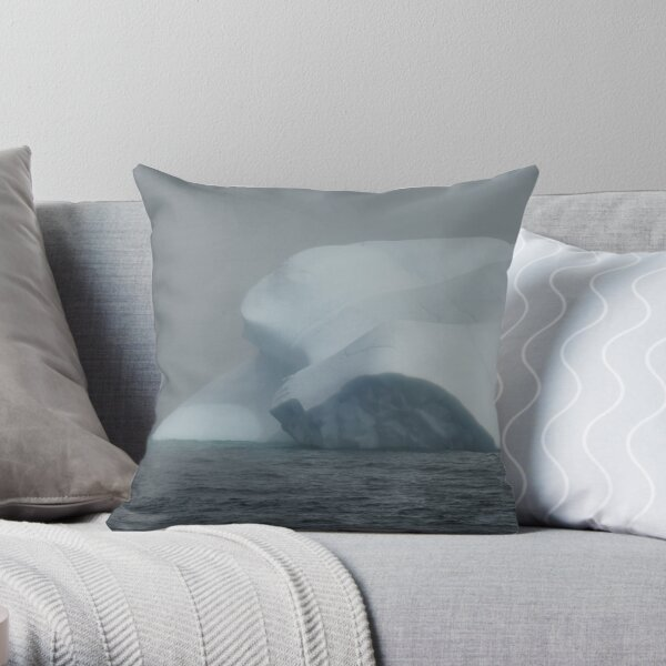 Misty Iceberg Throw Pillow