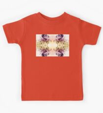 Beautiful Purple Brown Smoky Dust Kids Tee