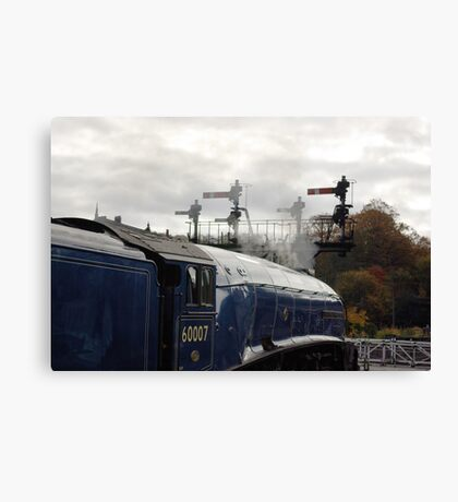 Waiting for the Off. Canvas Print