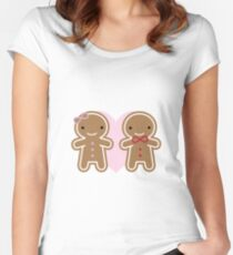 Cookie Cute Gingerbread Couple Women's Fitted Scoop T-Shirt