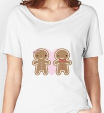 Cookie Cute Gingerbread Couple Women's Relaxed Fit T-Shirt