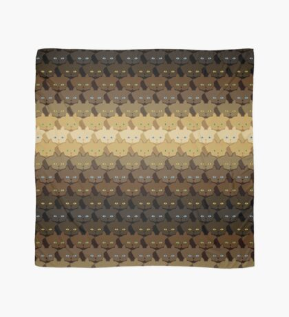 Brown Horizontal Stripe Cattern [Cat Pattern] Scarf