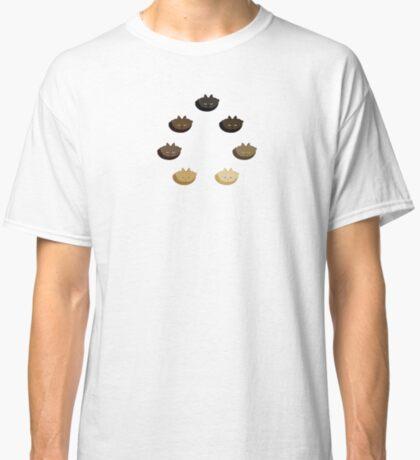 Brown Horizontal Stripe Cattern [Cat Pattern] Classic T-Shirt