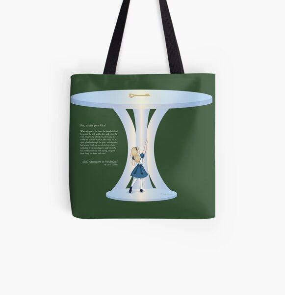 Alice Reaching for the Golden Key All Over Print Tote Bag