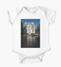 Amsterdam Canal Mansions - Bright White Symmetry  Kids Clothes