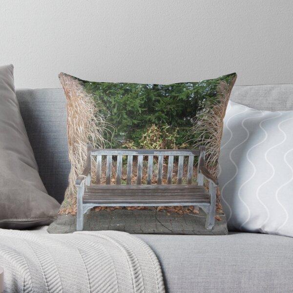 serenity bench Throw Pillow