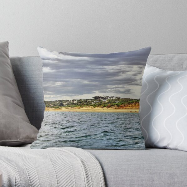 Jan Juc beach Throw Pillow