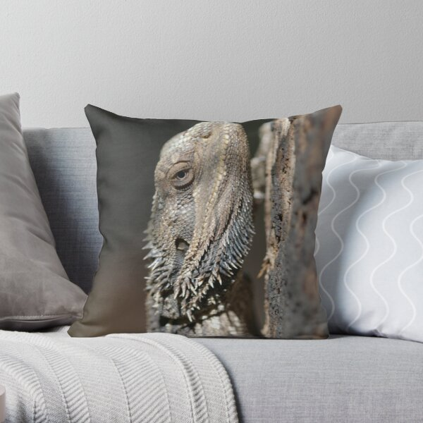 Eastern Bearded Dragon Throw Pillow