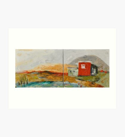 Red House on the Lake Art Print