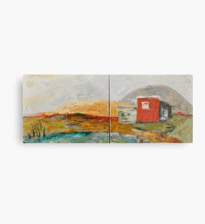 Red House on the Lake Metal Print