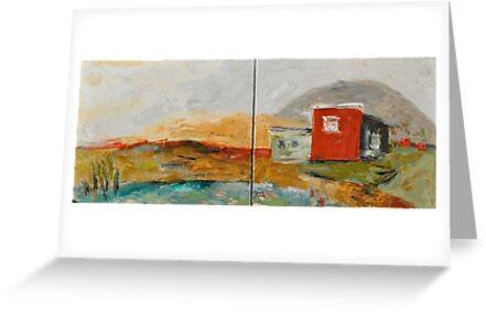 Red House on the Lake by Stella  Shube As