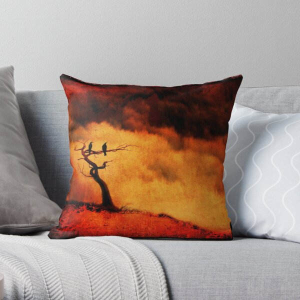 Raven Tree Throw Pillow