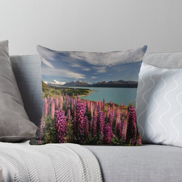 Pukaki Postcard Throw Pillow