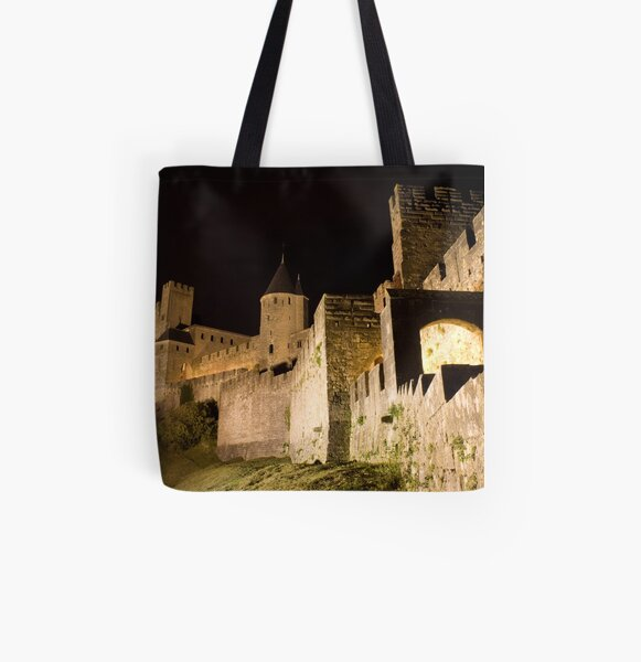 Carcassonne at night All Over Print Tote Bag