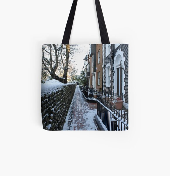 St. James's Place in the snow All Over Print Tote Bag