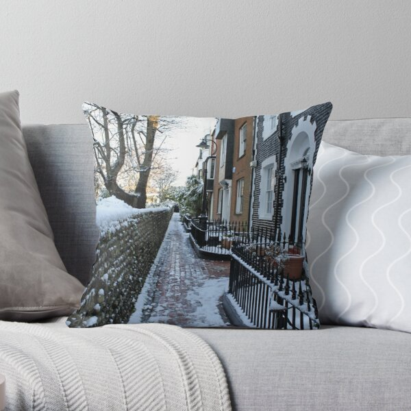 St. James's Place in the snow Throw Pillow