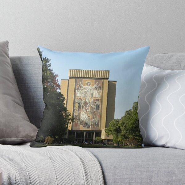 Touchdown Jesus Throw Pillow