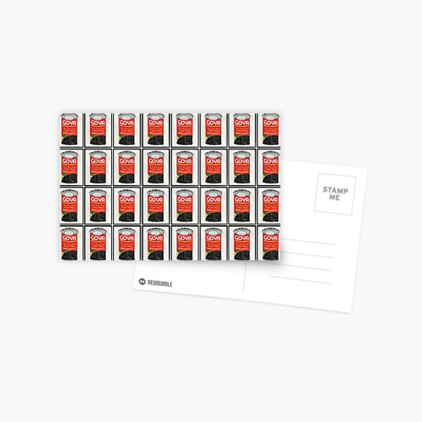 Goya Soup Cans Postcard