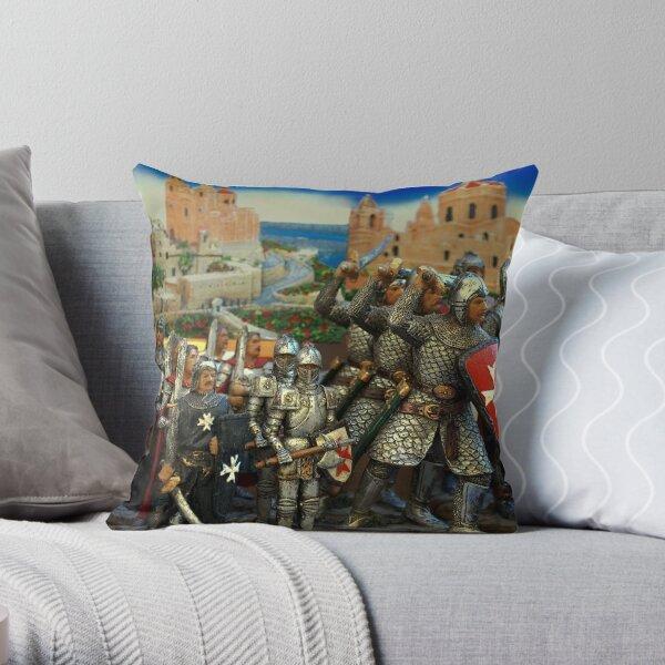 Maltese Crusades Throw Pillow