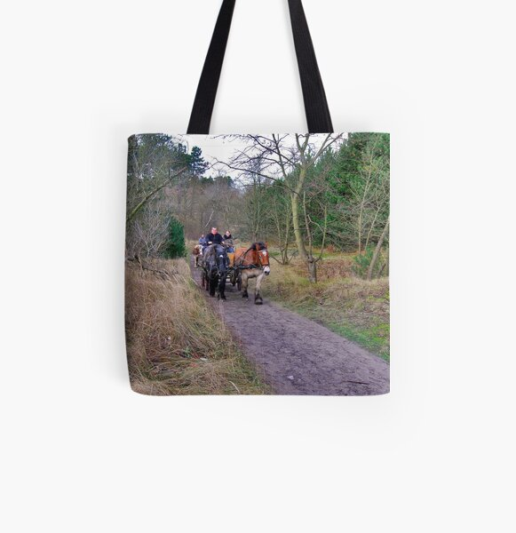 A ride through the forest All Over Print Tote Bag