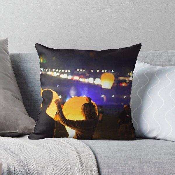 magical lanterns Throw Pillow