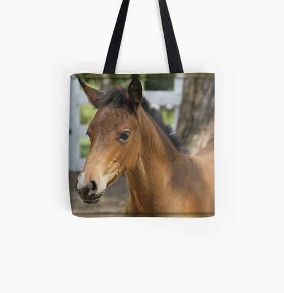 Just A Filly All Over Print Tote Bag