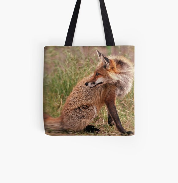 Red Fox Mom  All Over Print Tote Bag