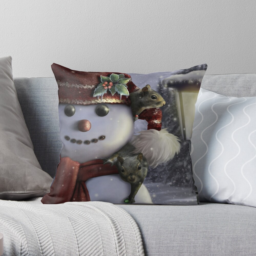 Holiday Friends Throw Pillow