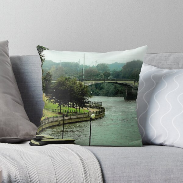 Columbus, Chattahoochee River Walk  Throw Pillow