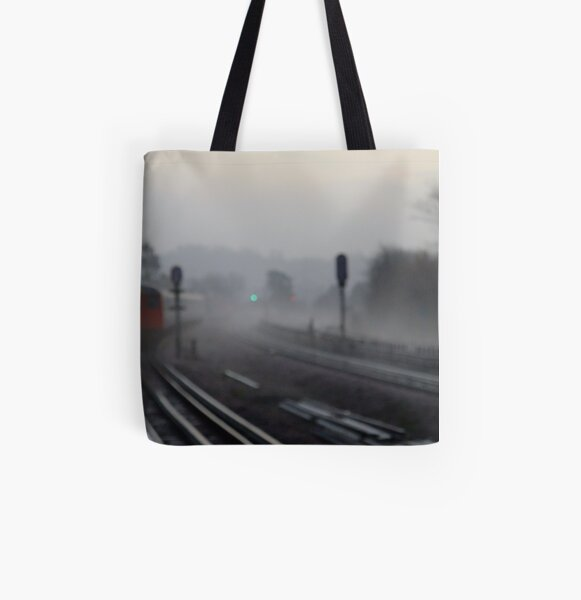 Foggy morning (Arrival) All Over Print Tote Bag