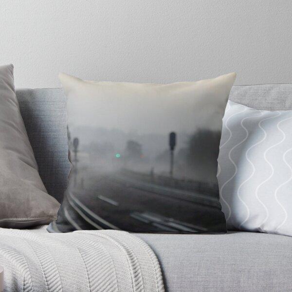 Foggy morning (Arrival) Throw Pillow