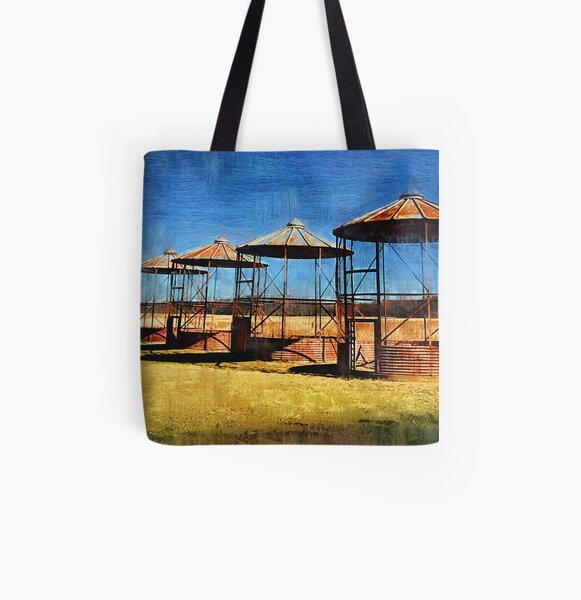 Old Farm Silos All Over Print Tote Bag