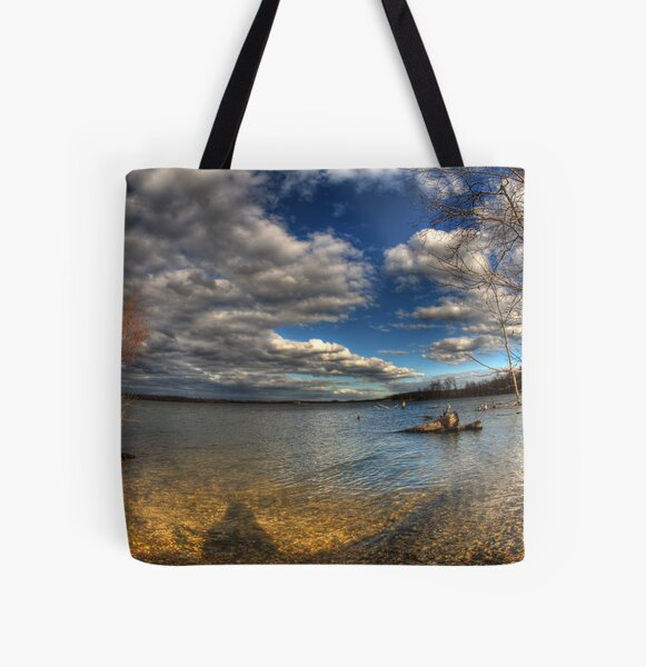 Reflecting All Over Print Tote Bag