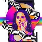 Psychedelische Lana Del Rey von TM490