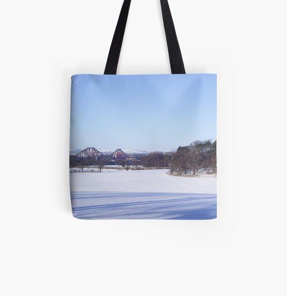 Winter Bridge All Over Print Tote Bag