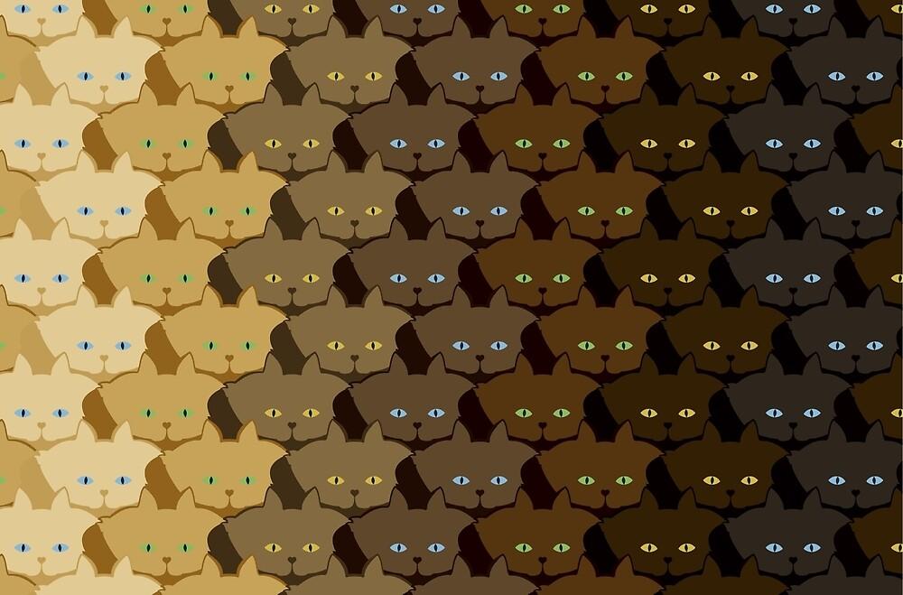 Brown Vertical Stripe Cattern [Cat Pattern] by Brent Pruitt