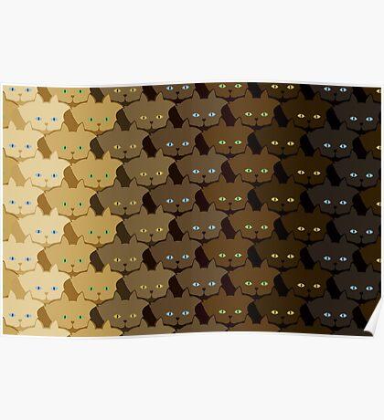 Brown Vertical Stripe Cattern [Cat Pattern] Poster