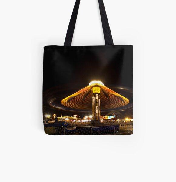 Rye Carnival 2010 Hurricane ride and Mega drop All Over Print Tote Bag