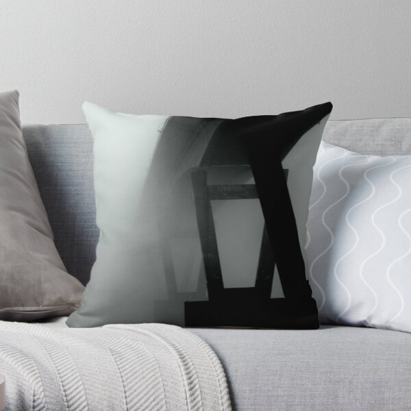 Mission Bridge in the Fog Throw Pillow