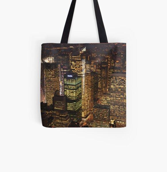 City Lights All Over Print Tote Bag