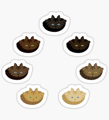 Brown Tabby Vertical Stripe Cattern [Cat Pattern] Sticker