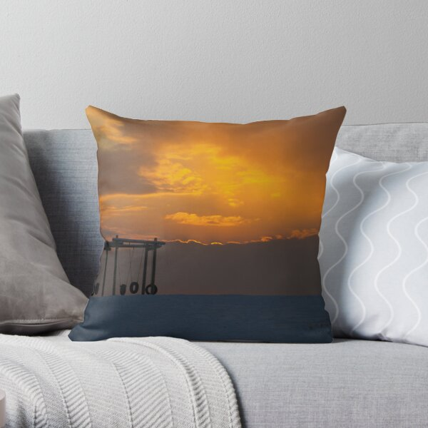 all gone home Throw Pillow