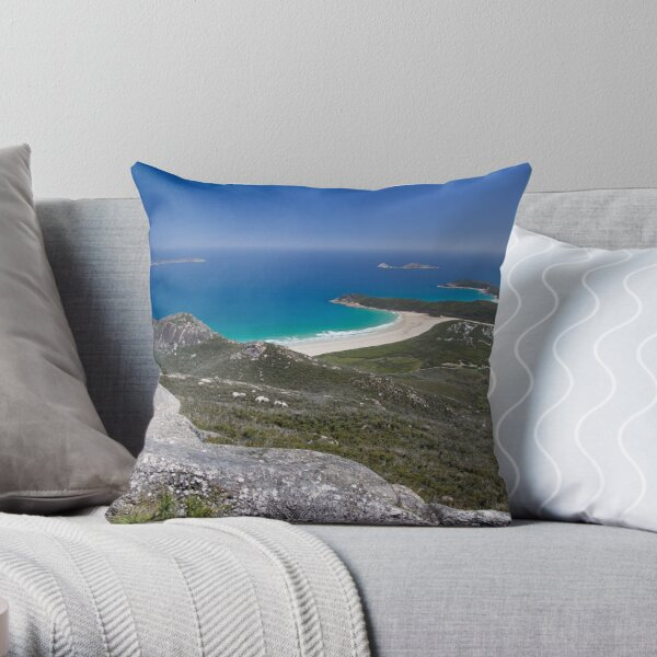 Tidal River and Norman Bay Throw Pillow