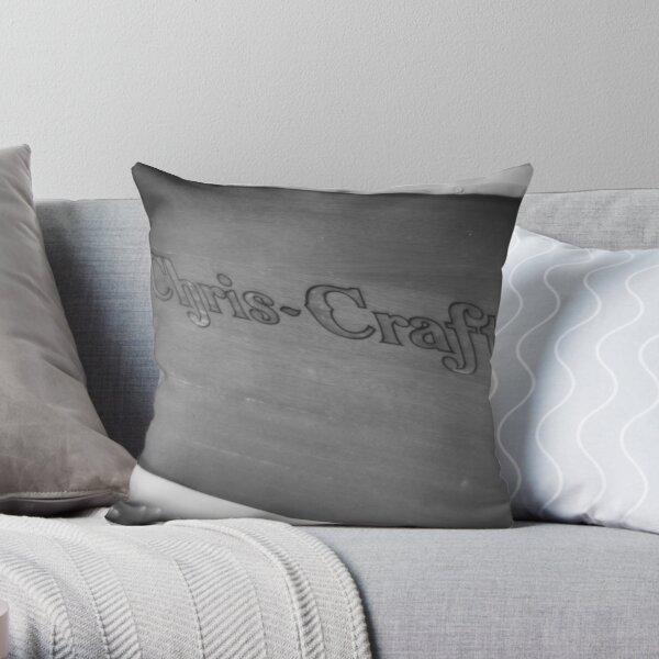 Black & White Chris Craft Throw Pillow