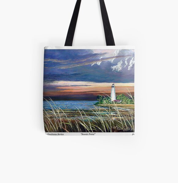 Scenic Point - St. Marks Light All Over Print Tote Bag