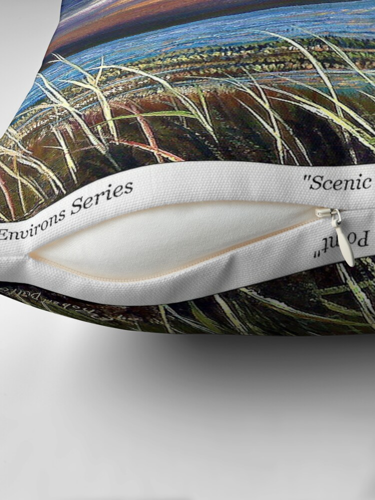 Alternate view of Scenic Point - St. Marks Light Throw Pillow