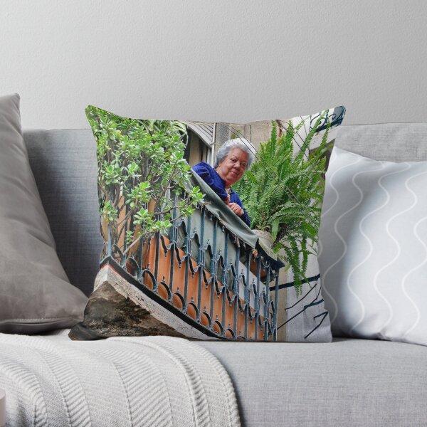 Do you like my balcony......? Throw Pillow