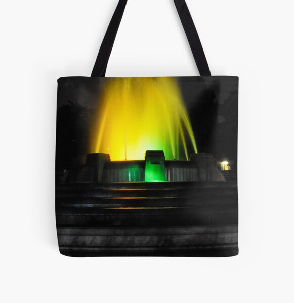 Mulholland Fountain at Night All Over Print Tote Bag