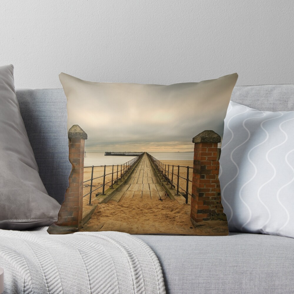 Pier entry Throw Pillow